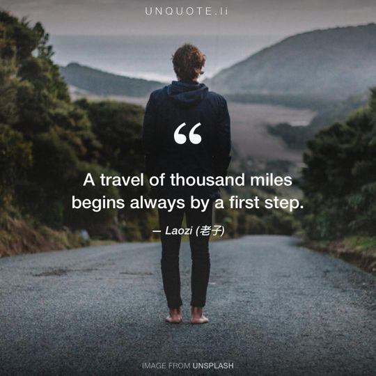 Image from Unsplash remixed with quote from Laozi (老子).