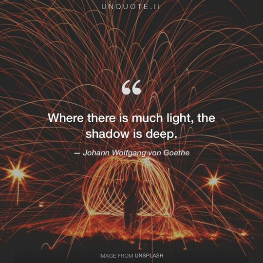 Image from Unsplash remixed with quote from Johann Wolfgang von Goethe.