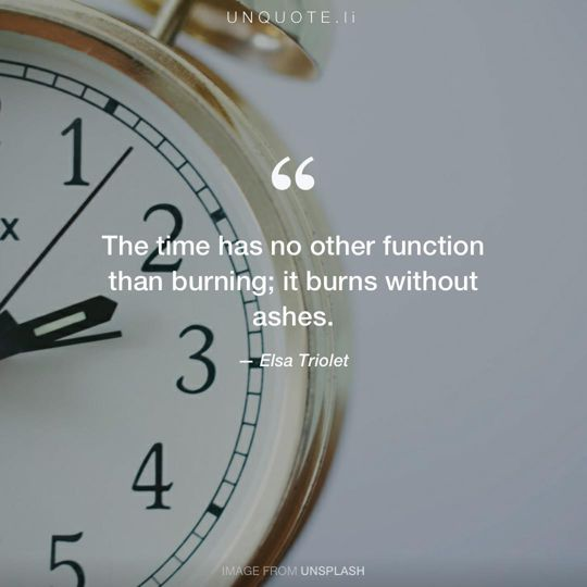 Image from Unsplash remixed with quote from Elsa Triolet.