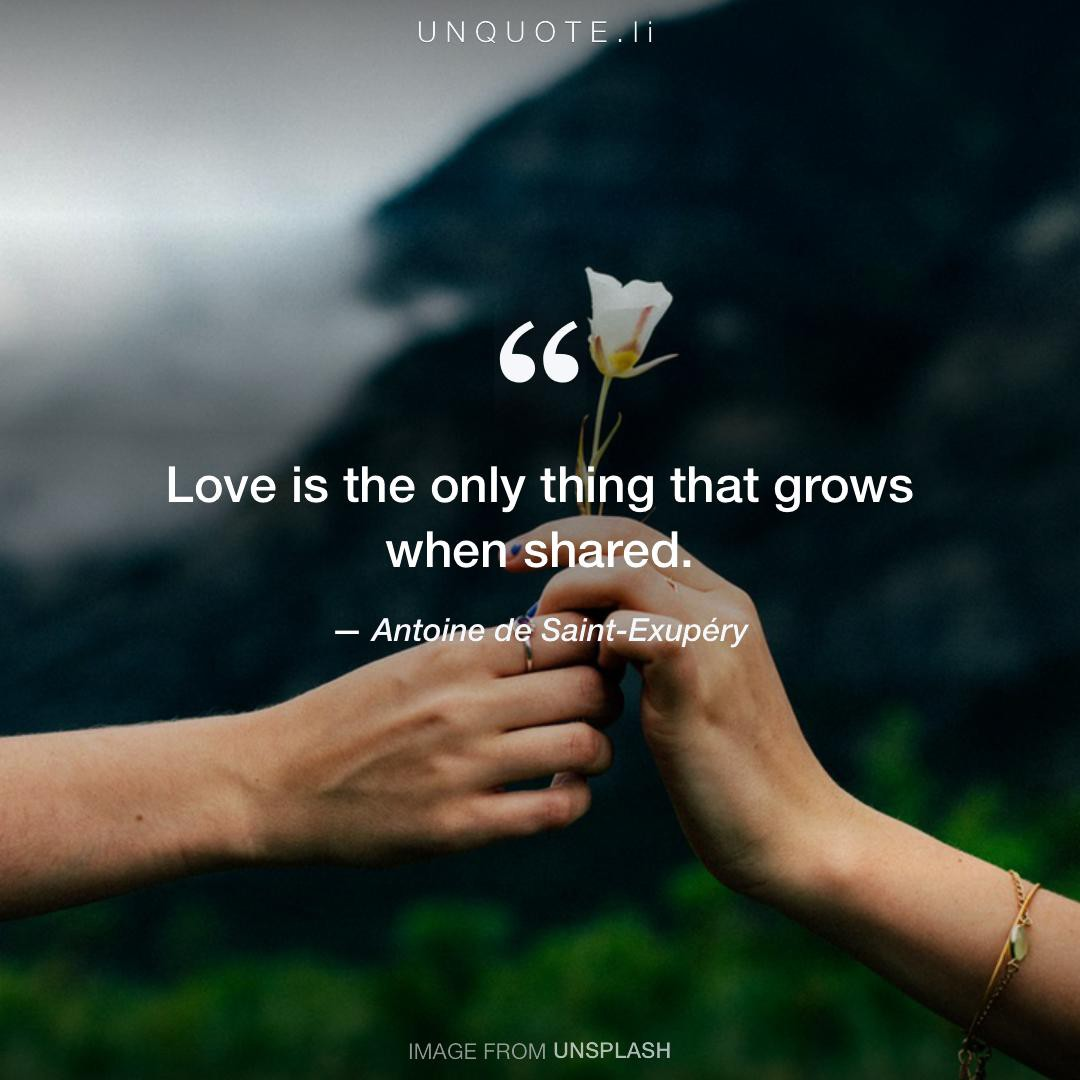 Love Is Quotes: Love Is The Onl... Quote From Antoine De Saint-Exupéry