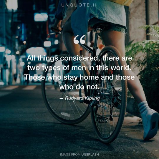 Image from Unsplash remixed with quote from Rudyard Kipling.