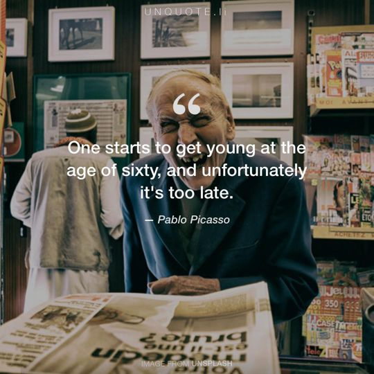 Image from Unsplash remixed with quote from Pablo Picasso.