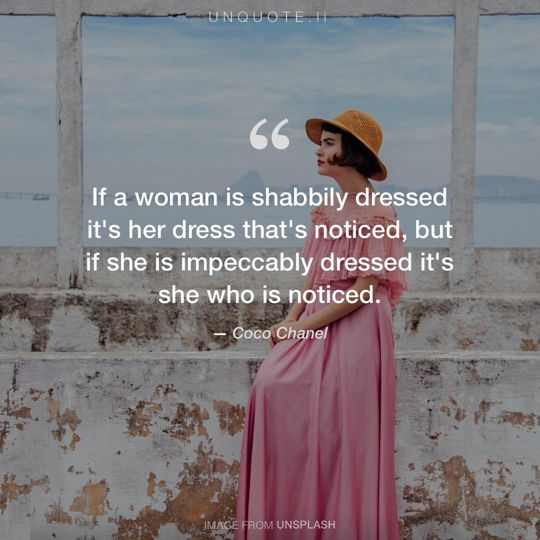 Image from Unsplash remixed with quote from Coco Chanel.