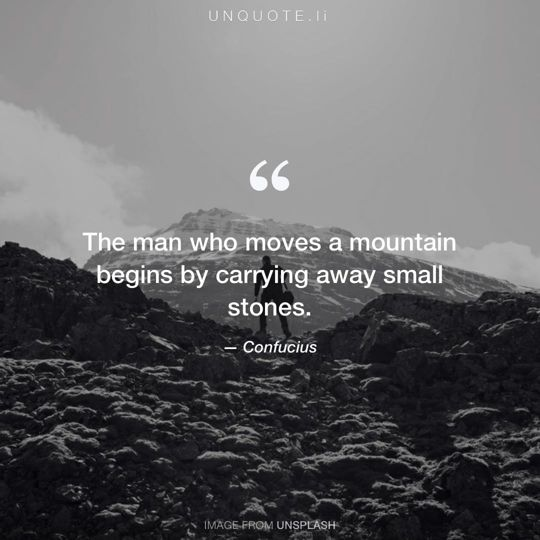 Image from Unsplash remixed with quote from Confucius.