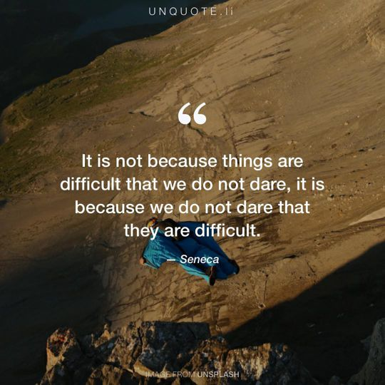 Image from Unsplash remixed with quote from Seneca.