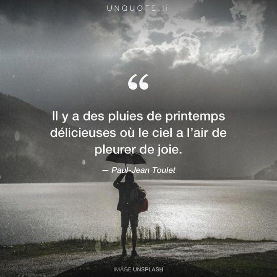 Image d'Unsplash remixée avec citation de Paul-Jean Toulet.