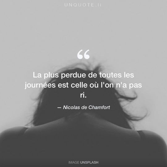 Image d'Unsplash remixée avec citation de Nicolas de Chamfort.