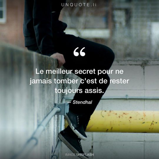 Image d'Unsplash remixée avec citation de Stendhal.