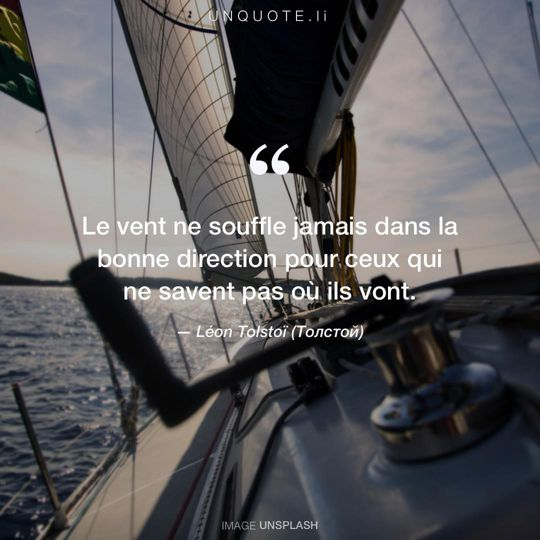 Image d'Unsplash remixée avec citation de Léon Tolstoï (Толстой).