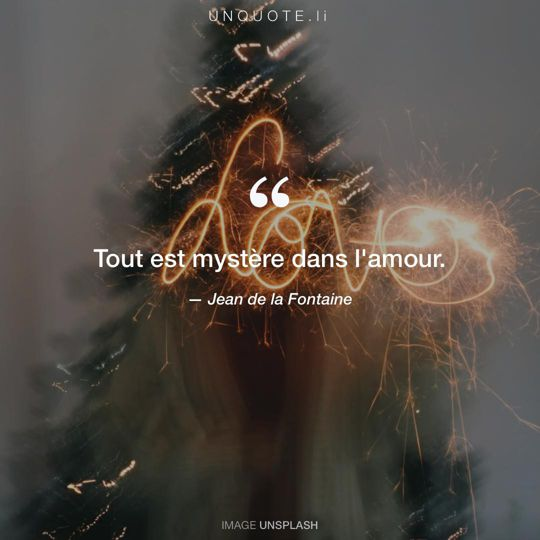 Image d'Unsplash remixée avec citation de Jean de la Fontaine.