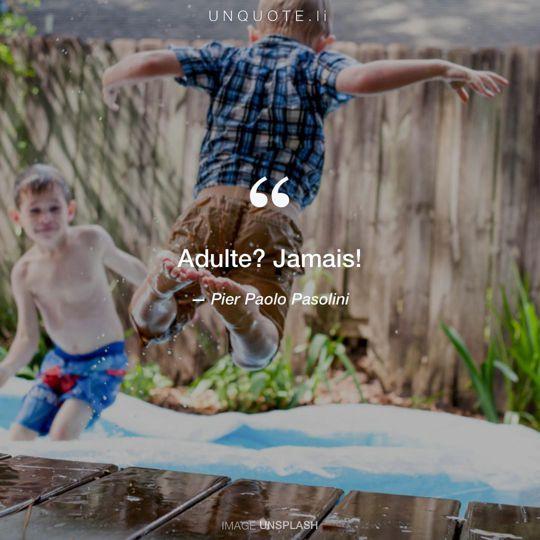 Image d'Unsplash remixée avec citation de Pier Paolo Pasolini.