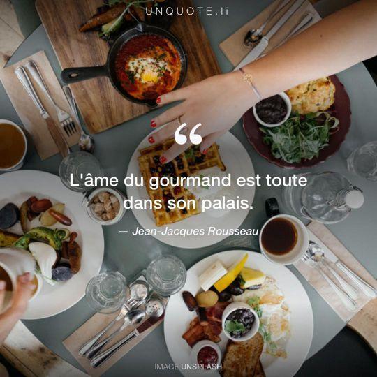 Image d'Unsplash remixée avec citation de Jean-Jacques Rousseau.